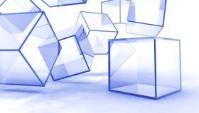 абстрактные кубики стеклянные Стоковые Изображения RF