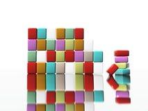 абстрактные кубики Стоковые Изображения