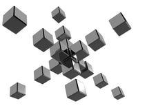 абстрактные кубики 3d иллюстрация вектора