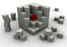 абстрактные кубики Стоковое Изображение