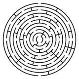 Абстрактные лабиринт/лабиринт круга с входом и выходом стоковое изображение rf