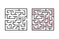 Абстрактные лабиринт/лабиринт с входом и выходом стоковая фотография rf