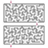 Абстрактные лабиринт/лабиринт с входом и выходом стоковые изображения