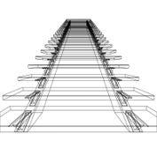 абстрактные лестницы Стоковое Изображение