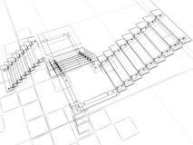абстрактные лестницы Стоковое Изображение RF