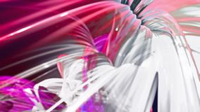 Абстрактные линии в движении как безшовная творческая предпосылка Красочные нашивки переплетают в круговом образовании Закрепленн акции видеоматериалы