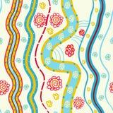 Абстрактные линии и цветки Стоковые Изображения