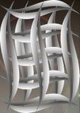 Абстрактные линии и шарики вектора предпосылки Стоковые Фото