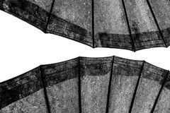 Абстрактные линии на архитектуре деталь зодчества самомоднейшая Уточненная часть современных интерьера/общественного здания офиса Стоковая Фотография RF