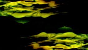 Абстрактные линии отражены в воде на черной предпосылке сердитой Абстрактная анимация геометрических линий двигая дальше иллюстрация штока