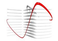 абстрактные линии 3d Стоковые Фото