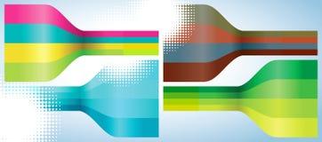абстрактные линии multicolor комплект предпосылки 4 Стоковые Фото