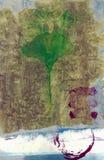 абстрактные листья ginkgo иллюстрация вектора