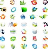 Абстрактные логосы икон вектора 3d Стоковая Фотография RF