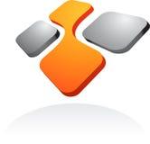 Абстрактные логос вектора/икона - 3 бесплатная иллюстрация