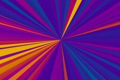 абстрактные лучи предпосылки Шаблон влияния дизайна Современная ультрамодная картина Красочная конфигурация пучка излучения нашив иллюстрация штока