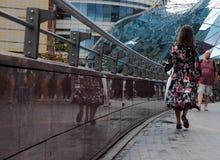 абстрактные люди города предпосылки Стоковое фото RF
