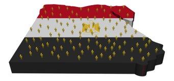 абстрактные люди карты флага Египета иллюстрация штока