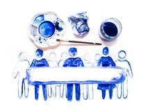 Абстрактные люди Сделанный красивых влияний watercolour Собрание текстурированное Watercolour Стоковое Фото