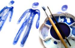 Абстрактные люди Сделанный красивых влияний watercolour Собрание текстурированное Watercolour Стоковая Фотография RF