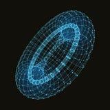 Абстрактные места включения и линии график Стоковые Фотографии RF
