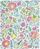 Абстрактные милые цветки и ягоды Стоковые Фотографии RF