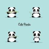 Абстрактные милые панды Стоковое Изображение
