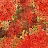 Абстрактные мраморные пластичные каменистые плитки мозаики текстурируют предпосылку с черным grout - красные оранжевые зеленые ха бесплатная иллюстрация