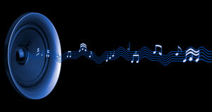 абстрактные музыкальные примечания Стоковые Изображения RF