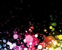 абстрактные накаляя света Стоковые Фото