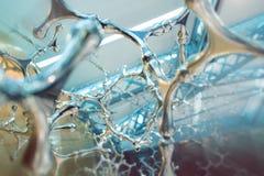 Абстрактные научные молекулы предпосылки на светлой предпосылке, науке Стоковое Изображение