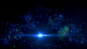 Абстрактные небольшие затруднения молнии на черной предпосылке Разметьте влияние яркого блеска галактики с sparkles на экране илл Стоковая Фотография