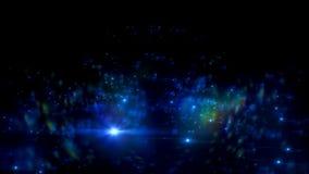 Абстрактные небольшие затруднения молнии на черной предпосылке Разметьте влияние яркого блеска галактики с sparkles на экране илл Стоковая Фотография RF