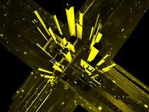 Абстрактные небоскребы в городе Стоковое Изображение