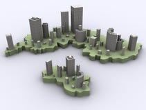 абстрактные небоскребы Стоковое Изображение