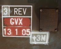 абстрактные номера купелей Стоковые Фотографии RF