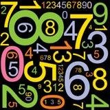 абстрактные номера предпосылки иллюстрация вектора