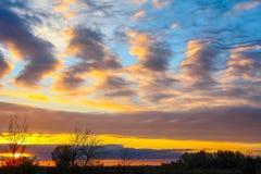 Абстрактные облака в небе захода солнца Стоковое Фото