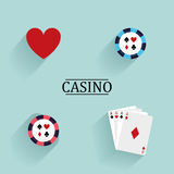Абстрактные объекты казино Стоковые Изображения RF