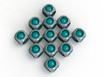 Абстрактные логосы сферы 3d Стоковые Изображения RF