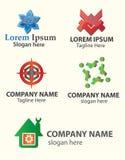 Абстрактные логосы Стоковые Фото