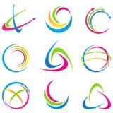 Абстрактные логосы иллюстрация вектора