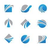 Абстрактные логотипы и значки следа иллюстрация вектора
