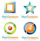 Абстрактные логотипы компании Стоковое Изображение RF
