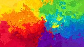 абстрактные оживленные запятнанные цвета спектра безшовной петли предпосылки видео- полные