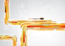 Абстрактные оранжевые линии внутри с местом для вашего текста Стоковые Фотографии RF