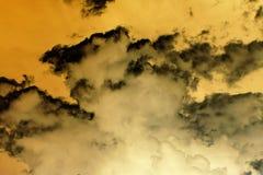 Абстрактные оранжевые облака шторма Стоковая Фотография