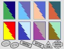 Абстрактные орнаменты для ваших карточек Стоковые Фотографии RF