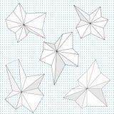 Абстрактные остроконечные геометрические дизайны Стоковое Изображение