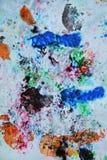 Абстрактные пастельные голубые розовые цвета и оттенки голубого серого цвета Абстрактная влажная предпосылка краски Пятна картины стоковое изображение